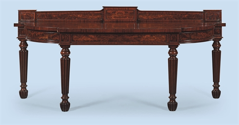 A GEORGE IV MAHOGANY SERVING-T