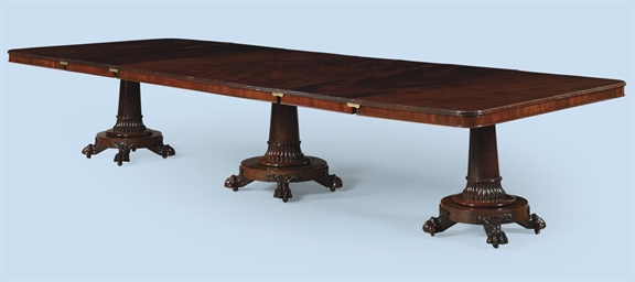 A GEORGE IV MAHOGANY THREE-PED