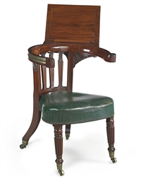 A REGENCY MAHOGANY READING-CHA
