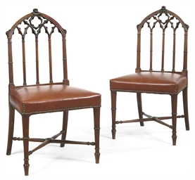 A PAIR OF LATE GEORGE III OAK