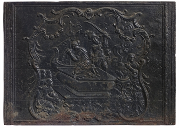 A GROUP OF FRENCH CAST IRON FI