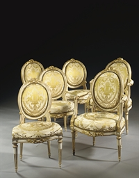 A SUITE OF LOUIS XVI WHITE-PAI