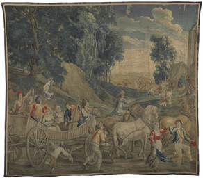 A FLEMISH PASTORAL TAPESTRY