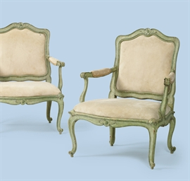 A PAIR OF NORTH ITALIAN GREEN-
