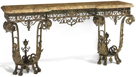 A PAIR OF FRENCH GILT WROUGHT