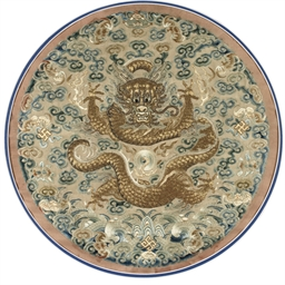 A FINE IMPERIAL SATIN EMBROIDE