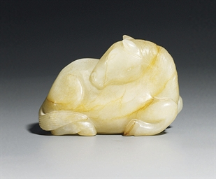 A SMALL JADE MODEL OF A HORSE