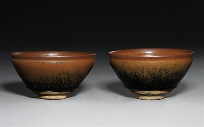 TWO JIANYAO 'HARE'S FUR' BOWLS