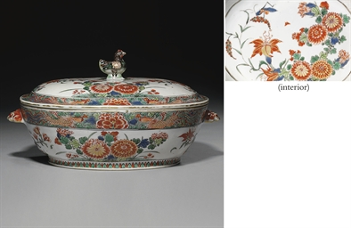 A FAMILLE VERTE OVAL TUREEN AN