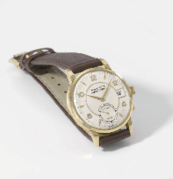 Movado. An 18K gold wristwatch
