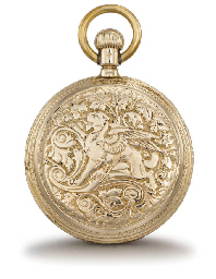 Assmann. A fine 14K gold hunte