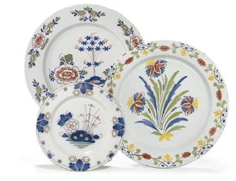 TWO ENGLISH DELFT POLYCHROME C