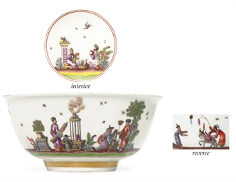 A MEISSEN CHINOISERIE WASTE BO