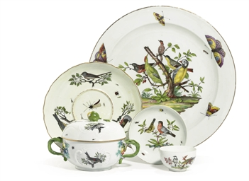 A GROUP OF MEISSEN BIRD-DECORA