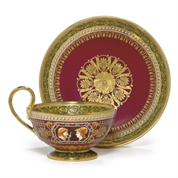 A SEVRES (HARD PASTE) CLARET A