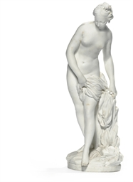 A SEVRES BISCUIT FIGURE OF 'LA