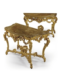 A PAIR OF ITALIAN GILTWOOD CON
