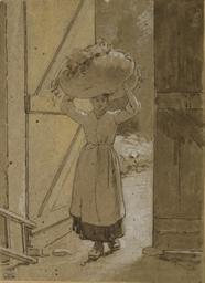 Femme portant un ballot de foi