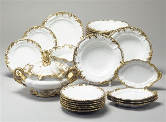 Partie de service de table en porcelaine tcheque marque - Porcelaine de table ...