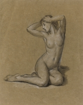Studies for 'The First Awakening of Eve' recto and verso (illustrated); and Study for 'Echo'