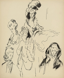 Studies of a lady