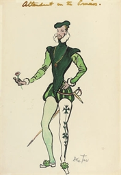 Study for a male attendant on