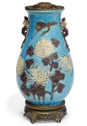 A Chinese baluster vase