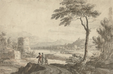 Travellers in a landscape