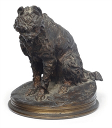 A FRENCH BRONZE OF A GRIFFON