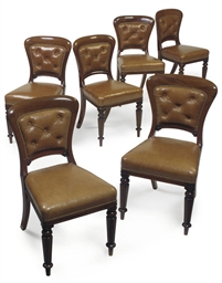 A SET OF SIX MID VICTORIAN MAH