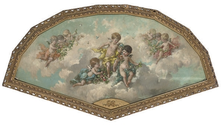 Putti in the clouds
