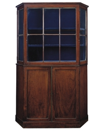 A MAHOGANY DISPLAY CABINET