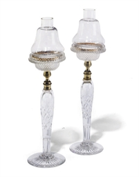 A PAIR OF GLASS CLARKE'S CRICK