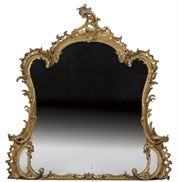 A FRENCH GILTWOOD AND GESSO OV