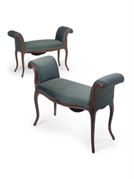 A PAIR OF EDWARDIAN MAHOGANY W