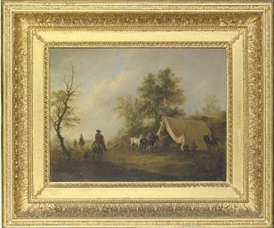 A cavalry encampment