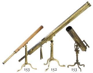 TWO VICTORIAN BRASS TELESCOPES
