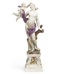 A MEISSEN GROUP OF VENUS AND C