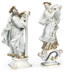 A MEISSEN FIGURE OF THE MADONN