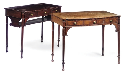 TWO GEORGE IV MAHOGANY DRESSIN