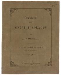 ANGSTRÖM, Anders Jonas (1814-1