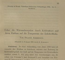 ARRHENIUS, Svante (1859-1927).