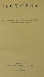 ASTON, Francis William (1877-1