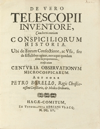 BOREL, Pierre (1620-1689).  De