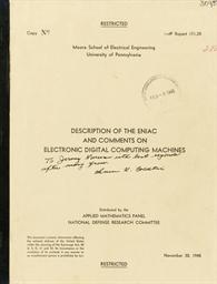 ENIAC -- ECKERT, J. Presper (1