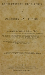 FARADAY, Michael (1791-1867).
