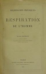 GRÉHANT, Nestor (1838-1910). R