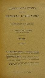 KAMERLINGH ONNES, Heike (1853-