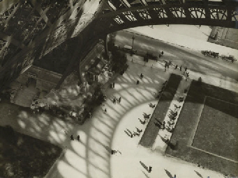 Shadows of the Eiffel Tower, b