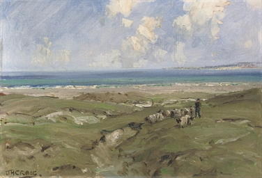 Shepherd by a Strand